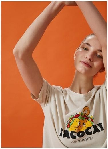 Koton Koton T-Shirt Taş